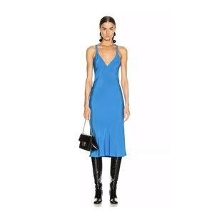 Haider Ackermann Camisole Dress Sophora Blue Silk
